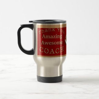 Amazing Awesome Hockey Coach Gifts or Coach's NAME 15 Oz Stainless Steel Travel Mug