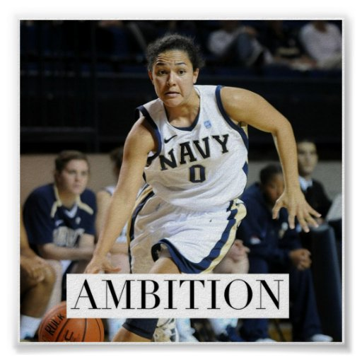 Ambition - Basketball Motivational Poster | Zazzle