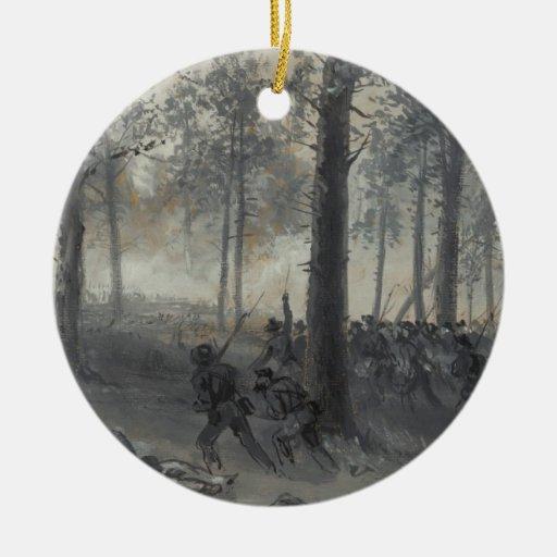 American Civil War Battle of Chickamauga by Waud Christmas ...