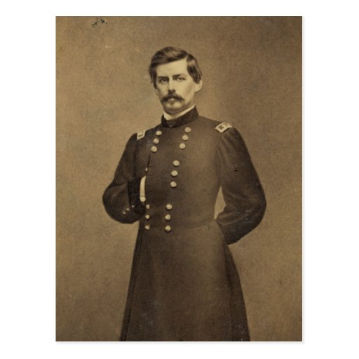 American Civil War General George B McClellan Postcard ...