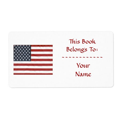 bookplate templates for word - american flag bookplate custom shipping label zazzle