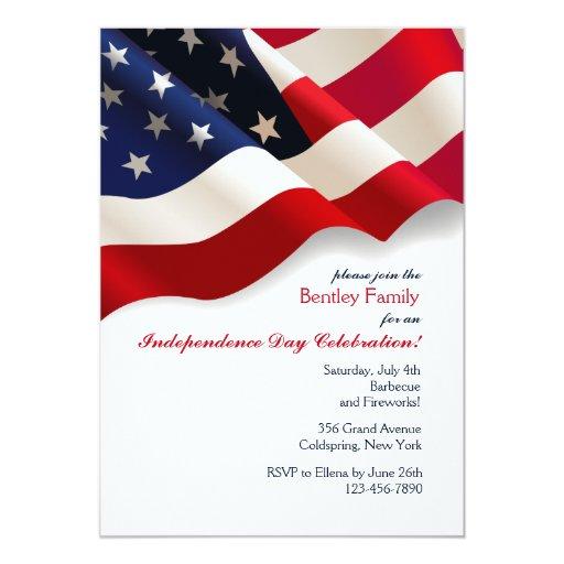 American Flag Invitation | Zazzle