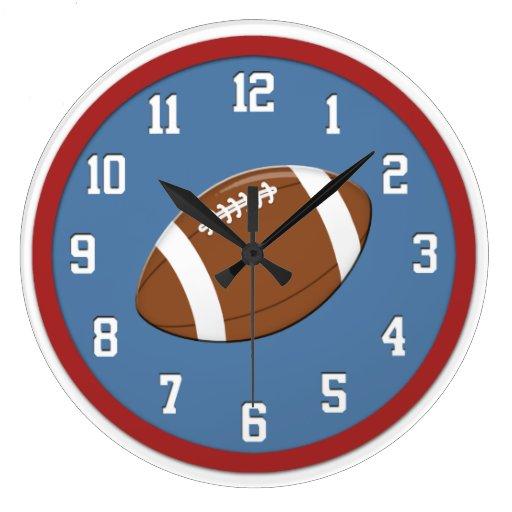 American Football Wall Clock Zazzle