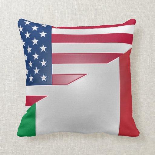 American Italian Flag American Mojo Pillow Zazzle