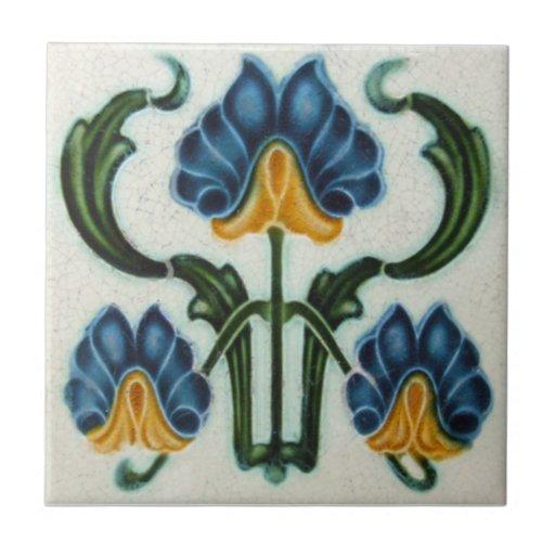 An038 Art Nouveau Reproduction Antique Tile Zazzle