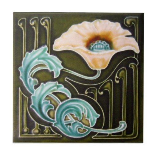 An124 Art Nouveau Reproduction Antique Tile Zazzle