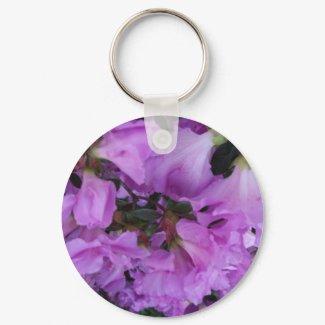 An Abstract Of An Azalea keychain