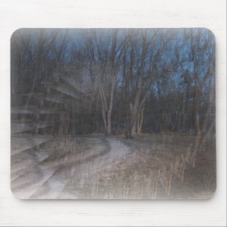 An Illusion of The Woods-Halloween Gesture mousepad