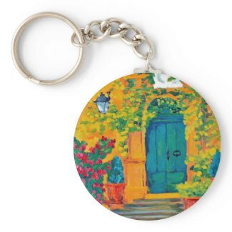 An Open Door Policy keychain