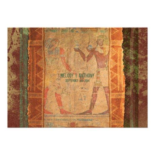 "Ancient Egyptian Themed Wedding Invitation 5"" X 7"