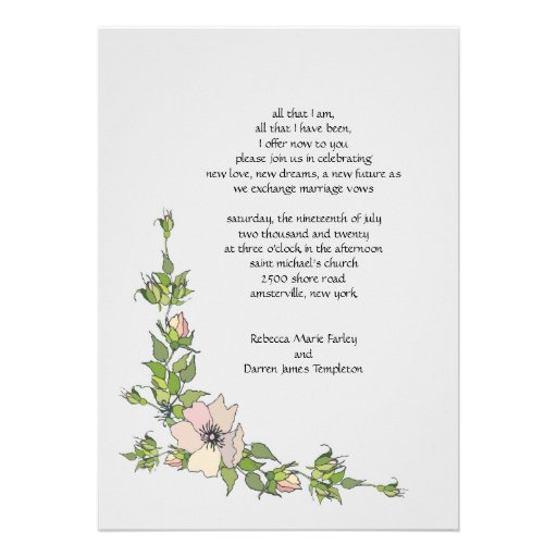 Wording For Second Wedding Invitations: Anemone Corner Second Marriage Wedding Invitations