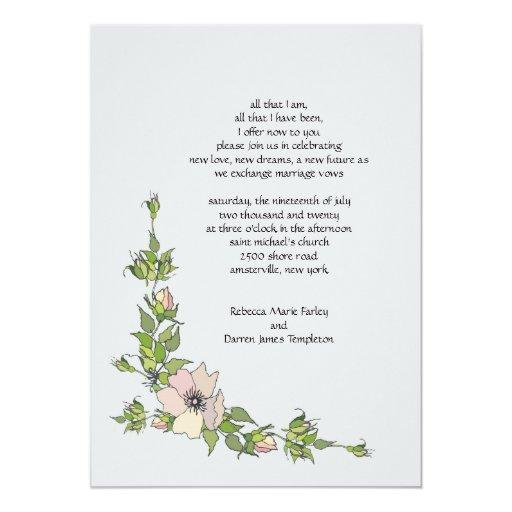 2nd Wedding Invitation Wording: Anemone Corner Second Marriage Wedding Invitations
