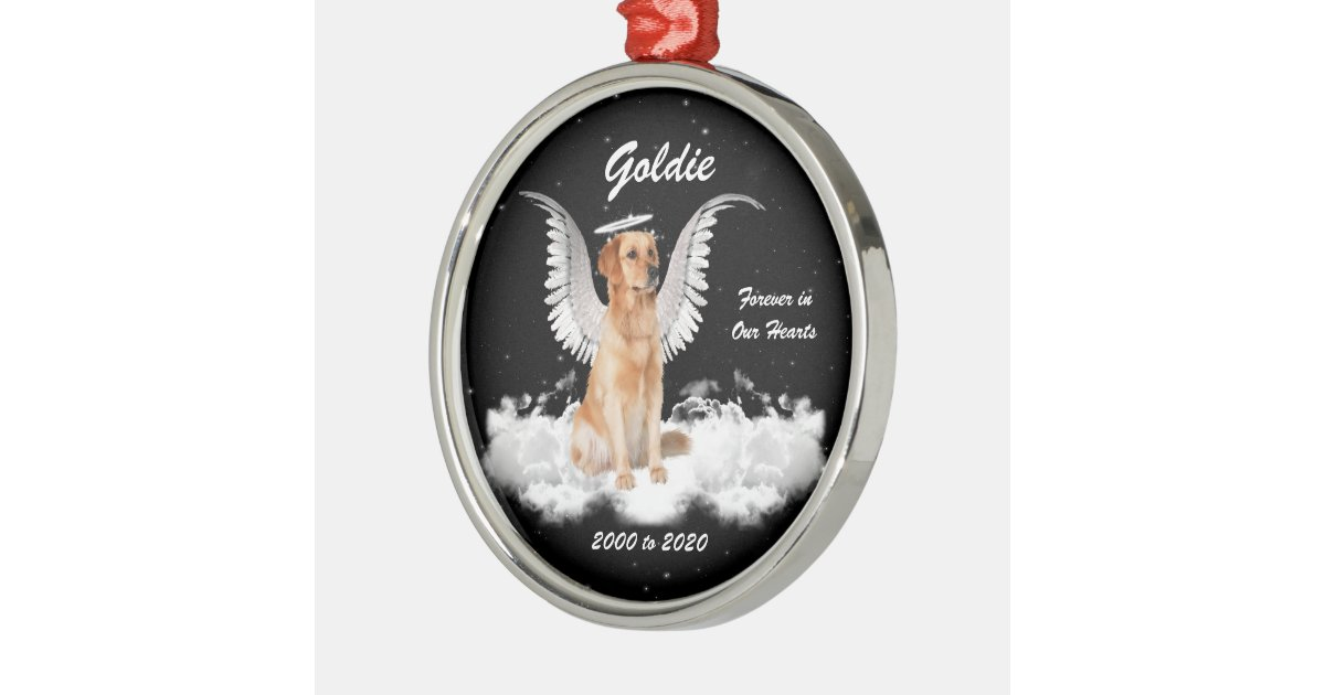 Angel Dog Personalized Memorial Christmas Ornament Zazzle