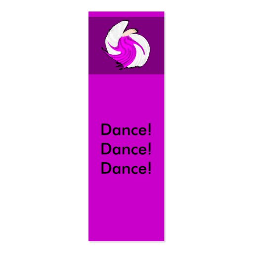 Angel of dance mini bookmarks double sided mini business for Double sided bookmark template