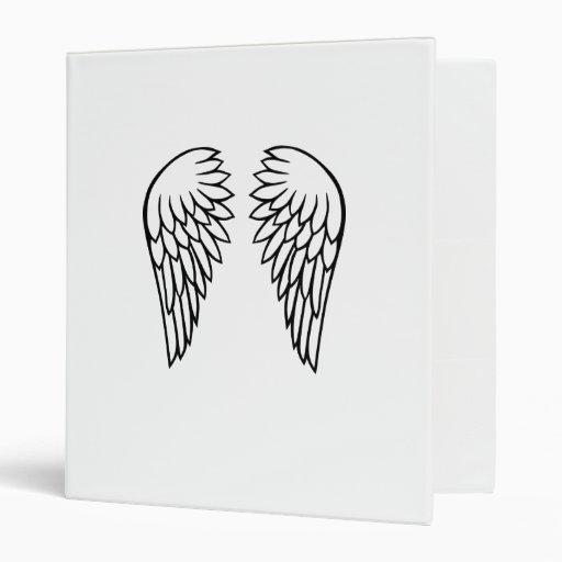 Angel Wings Vinyl Binder