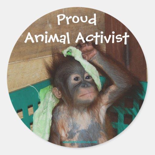 Animal Activist Sticker | Zazzle