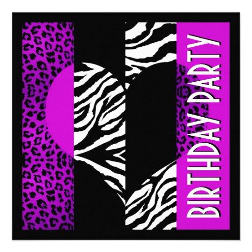 Animal Print Purple Leopard Black and White Zebra 5.25 ...