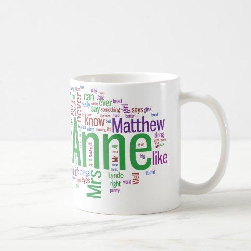 Anne Of Green Gables Word Cloud Coffee Mug Zazzle