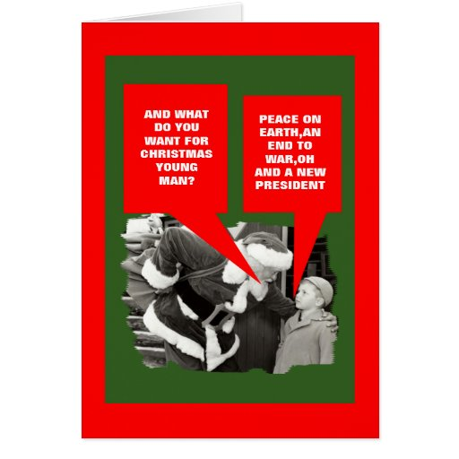 Anti President Obama Happy Holidays Greeting Card