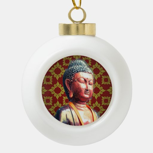 Antique Buddha Ceramic Ball Christmas Ornament | Zazzle