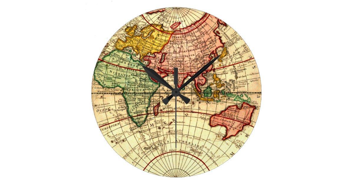 Antique World Globe Map Vintage Art Designer Style Large