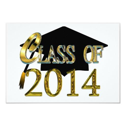 Any Color 2014 Class Graduation Party Invitations   Zazzle