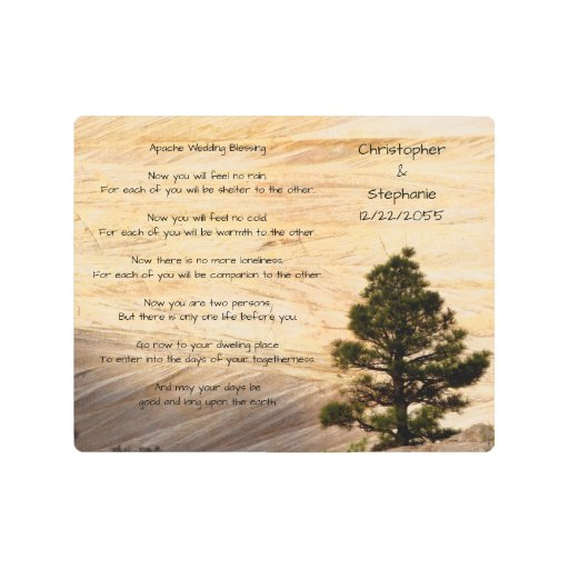 Wedding Blessings Photography: Apache Wedding Blessing Light Brown Stone And Tree Metal