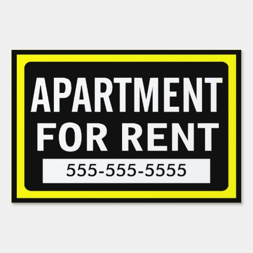 Flat Apartments For Rent: Apartment For Rent Yard Sign