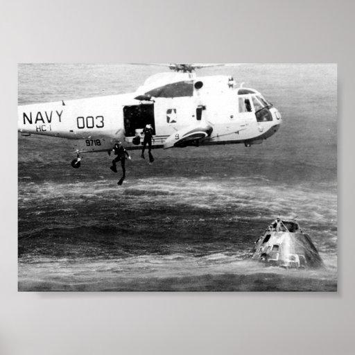 Apollo 15 Splashdown & Recovery Print | Zazzle