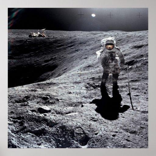 Apollo 16 Astronaut on the Moon Poster   Zazzle