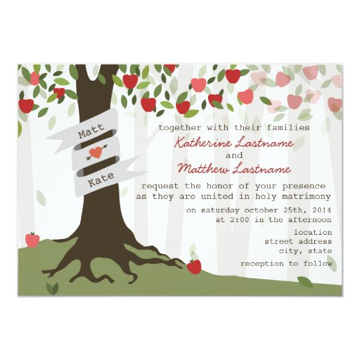 Apple Green Wedding Invitations: Apple Orchard Wedding Invitation