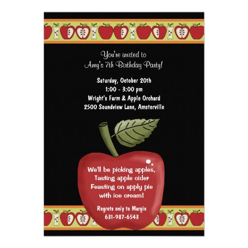 Personalized Apples Invitations