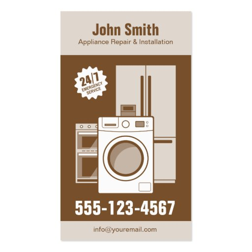 Appliance Repair Service And Installation Business Card
