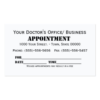 appointment cards templates free - my turn for something obscure printing appointment