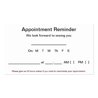 medical appointment card template free - the executive suite appointment reminder cards 100 pack