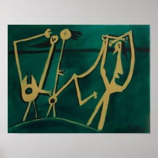 après Picasso, les acrobats print