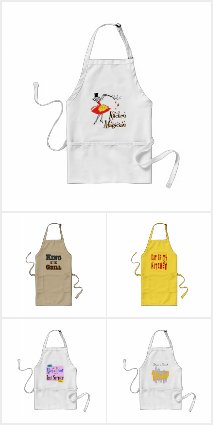 Kitchen Aprons, Totes, Magnets and more