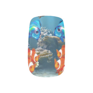 Aquarium Fish Nail Art & Nail Wraps | Zazzle