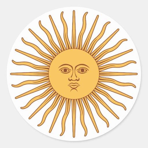 argentina sol de mayo stickers zazzle. Black Bedroom Furniture Sets. Home Design Ideas