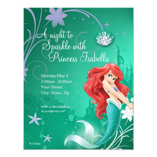 Personalized Disney Ariel Invitations