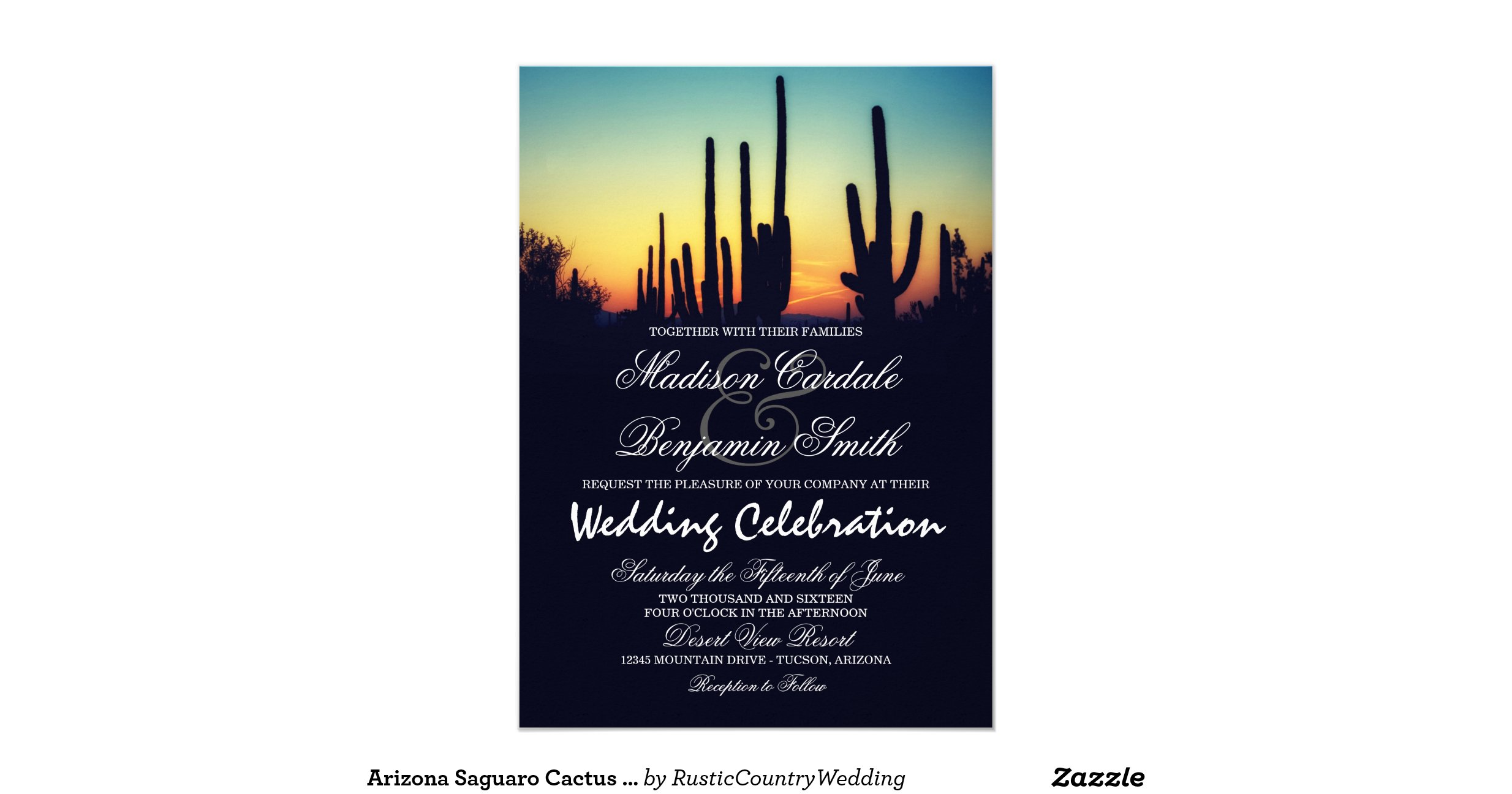 Wedding Invitations Az: Arizona_saguaro_cactus_sunset_wedding_invitations