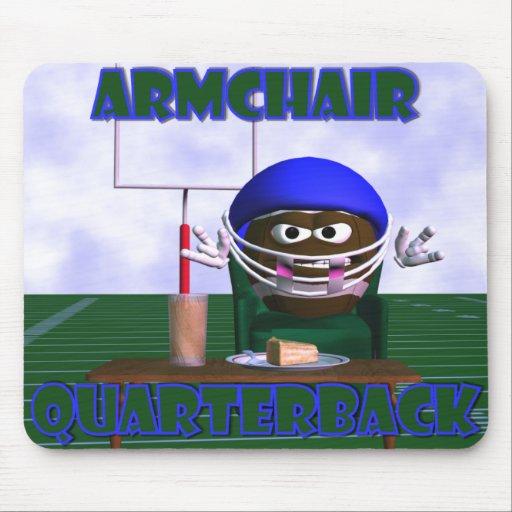Armchair Quarterback Mousepad   Zazzle