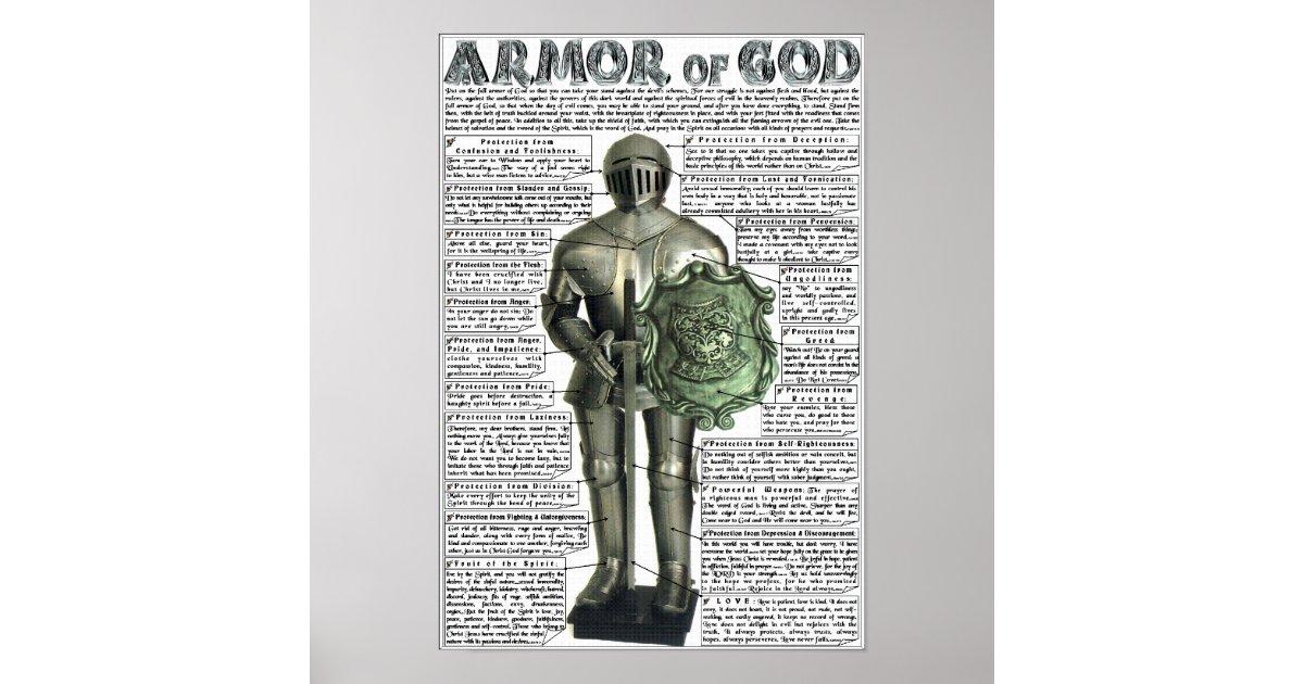 ARMOR OF GOD POSTER | Zazzle