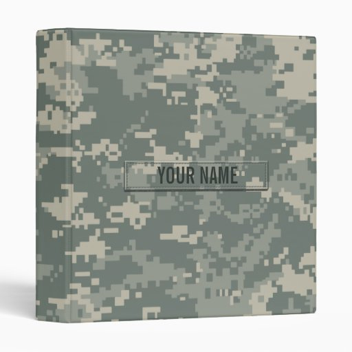 Army ACU Camouflage Customizable 3 Ring Binders