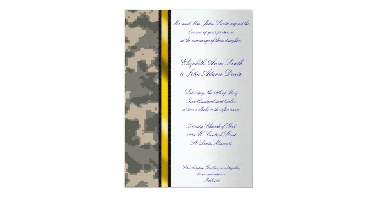 Army Wedding Invitations: Army Digital Camouflage Wedding Invitation