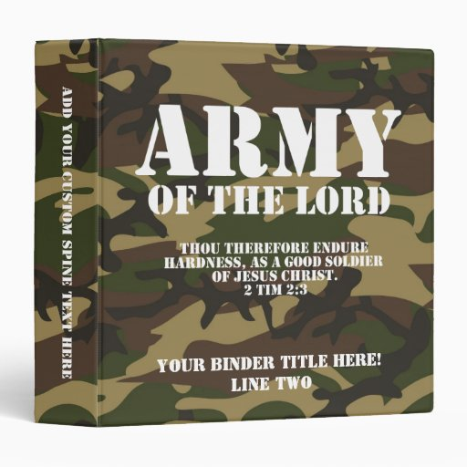 Army Of The Lord Binder