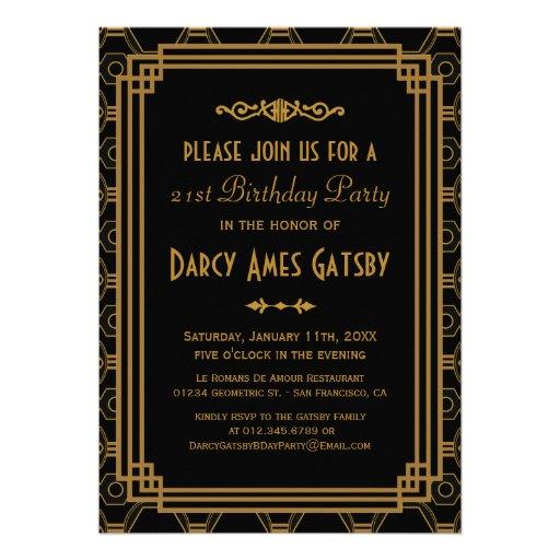 Personalized Roaring 20s Invitations