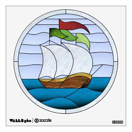 Art Deco Ship: Art Deco Flag Ship Decal Wall Graphic