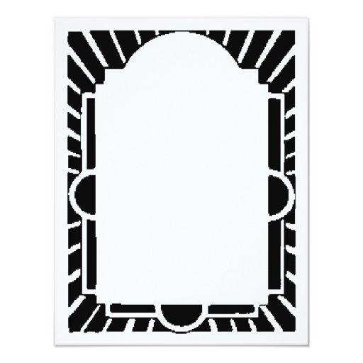 Art Deco Frame,Marquee 4.25x5.5 Paper Invitation Card | Zazzle