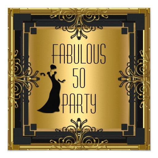 Fab 50 People: ART DECO Gatsby Fabulous 50 50th Birthday Party 3